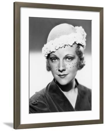Woman with a Veiled Hat--Framed Photo