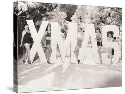 Xmas Greetings--Stretched Canvas Print