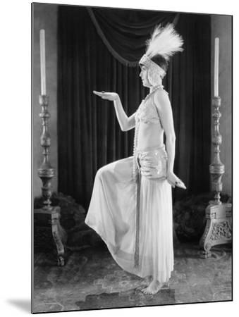 Woman Posing in a Exotic Dress--Mounted Photo