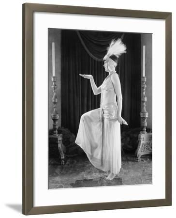 Woman Posing in a Exotic Dress--Framed Photo