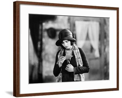 Woman Reading Upsetting Note--Framed Photo