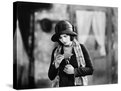Woman Reading Upsetting Note--Stretched Canvas Print