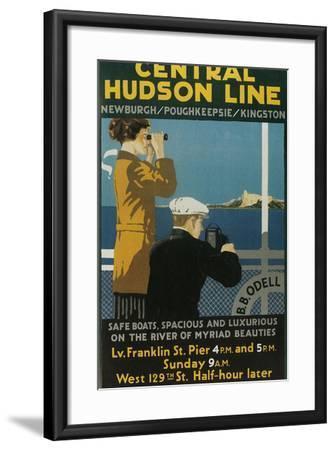 Travel Poster, Central Hudson Line-Found Image Holdings Inc-Framed Photographic Print