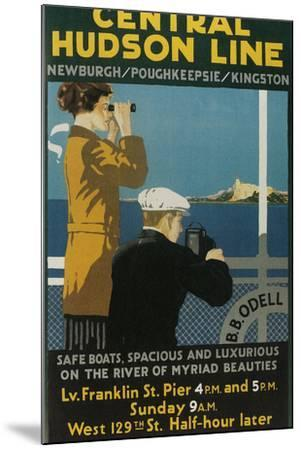 Travel Poster, Central Hudson Line-Found Image Holdings Inc-Mounted Photographic Print