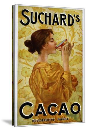 Circa 1905 Belgian Poster for Suchard's Cacao-swim ink 2 llc-Stretched Canvas Print