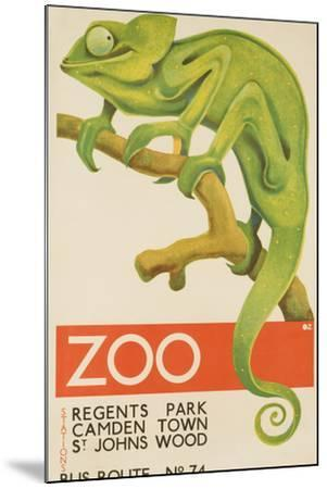 Zoo, Iguana London Bus Route No. 74 Advertising Poster-David Pollack-Mounted Photographic Print