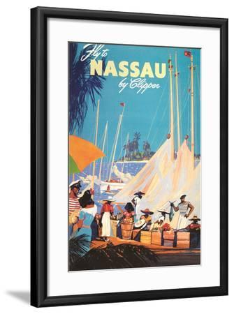Fly to Nassau Poster-Found Image Holdings Inc-Framed Photographic Print