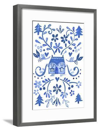 Blue Cottage-Elizabeth Rider-Framed Giclee Print