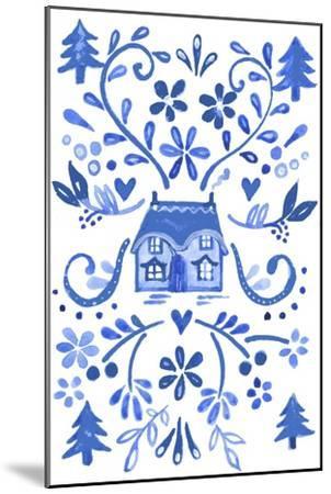 Blue Cottage-Elizabeth Rider-Mounted Giclee Print