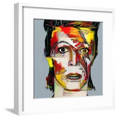Picasso Reimagined - David Bowie 2-Mark Gordon-Framed Premium Giclee Print