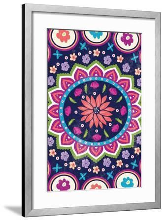 Floral I-ND Art-Framed Art Print