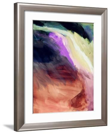 Desert Sunset II-Linda Woods-Framed Art Print
