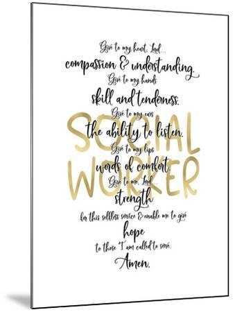 Social Worker Prayer-Tara Moss-Mounted Art Print