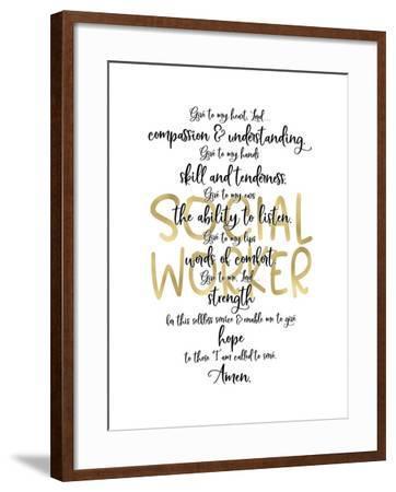 Social Worker Prayer-Tara Moss-Framed Art Print
