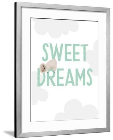 Sweet Dreams Sloth-Linda Woods-Framed Art Print