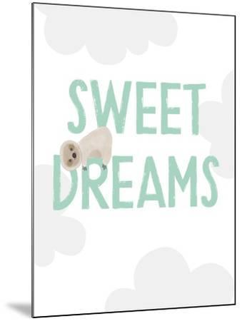 Sweet Dreams Sloth-Linda Woods-Mounted Art Print