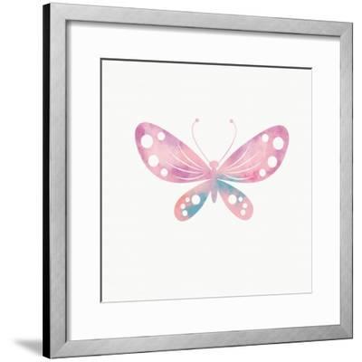 Multi Color Butterfly I-Linda Woods-Framed Art Print