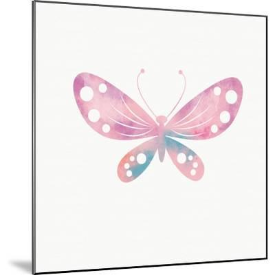 Multi Color Butterfly I-Linda Woods-Mounted Art Print