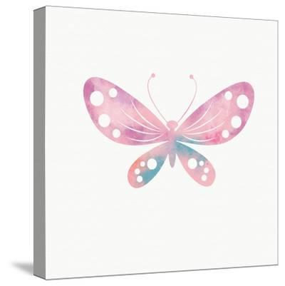 Multi Color Butterfly I-Linda Woods-Stretched Canvas Print
