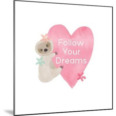 Follow Your Dreams Heart-Linda Woods-Mounted Art Print