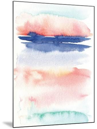 Pink Landscape Abstract I-Elise Engh-Mounted Art Print
