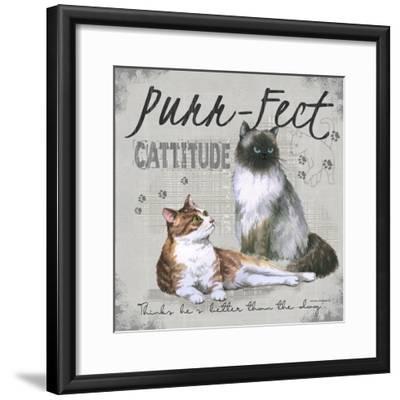 Cattitude-Anita Phillips-Framed Art Print