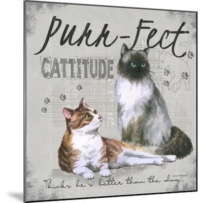 Cattitude-Anita Phillips-Mounted Art Print