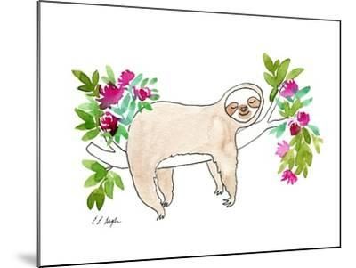 Sleeping Sloth-Elise Engh-Mounted Art Print