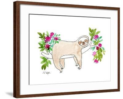 Sleeping Sloth-Elise Engh-Framed Art Print
