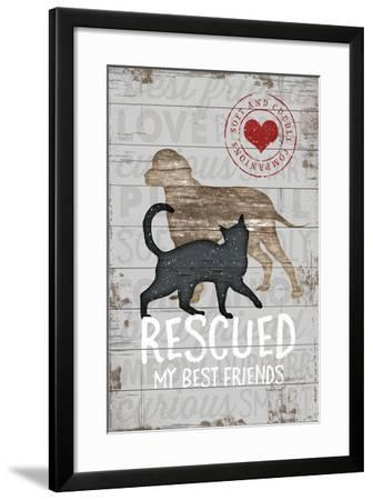 Rescued My Best Friend-Jennifer Pugh-Framed Art Print