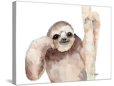 Big Brown Sloth-Elise Engh-Stretched Canvas Print