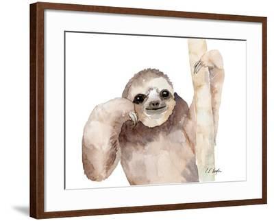 Big Brown Sloth-Elise Engh-Framed Art Print
