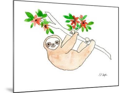 Hanging Sloth-Elise Engh-Mounted Art Print