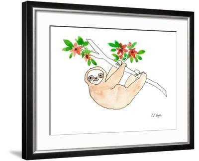 Hanging Sloth-Elise Engh-Framed Art Print