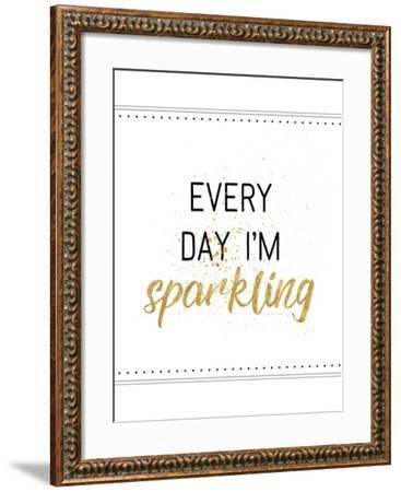 Every Day I'M Sparkling-Jennifer Pugh-Framed Art Print