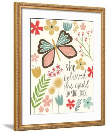 Believed She Could-Katie Doucette-Framed Art Print