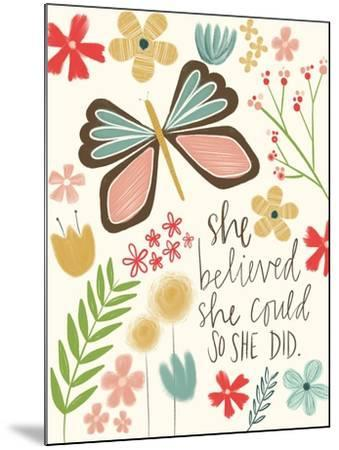 Believed She Could-Katie Doucette-Mounted Art Print