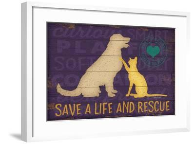 Save a Life Rescue-Jennifer Pugh-Framed Art Print