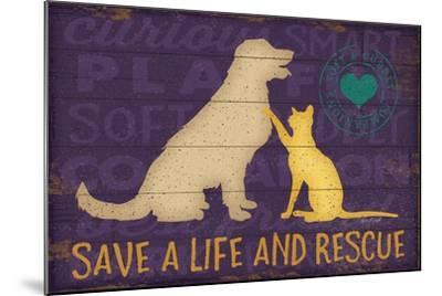 Save a Life Rescue-Jennifer Pugh-Mounted Art Print