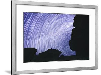 Chile, Monjes De Pakana, Startrail, Rock Formations-Jutta Ulmer-Framed Photographic Print