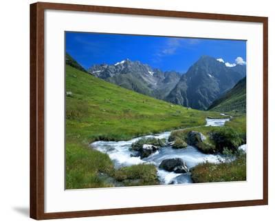 Austria, Pitztal, Plangero?alpe Against High Violin-Ludwig Mallaun-Framed Photographic Print