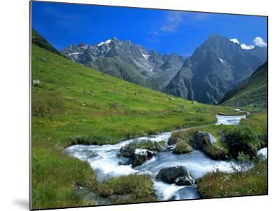 Austria, Pitztal, Plangero?alpe Against High Violin-Ludwig Mallaun-Mounted Photographic Print