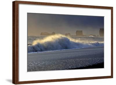 Iceland, Iceland, the South, Mydralur, Vik, Peninsula Dyrholaey-Bernd Rommelt-Framed Photographic Print