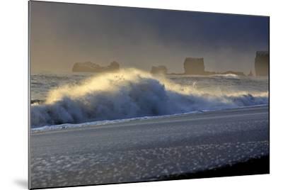 Iceland, Iceland, the South, Mydralur, Vik, Peninsula Dyrholaey-Bernd Rommelt-Mounted Photographic Print