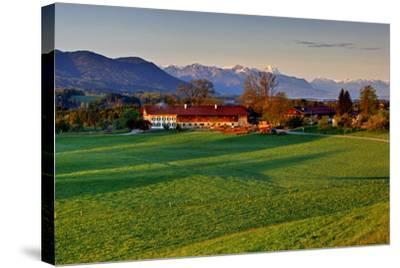 Germany, Bavaria, Farm in Front of Zwiesel, Bavarian Alpine Foothills Wetterstein Range-Bernd Rommelt-Stretched Canvas Print