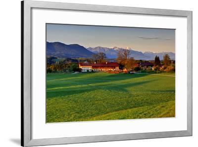 Germany, Bavaria, Farm in Front of Zwiesel, Bavarian Alpine Foothills Wetterstein Range-Bernd Rommelt-Framed Photographic Print