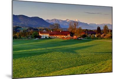 Germany, Bavaria, Farm in Front of Zwiesel, Bavarian Alpine Foothills Wetterstein Range-Bernd Rommelt-Mounted Photographic Print