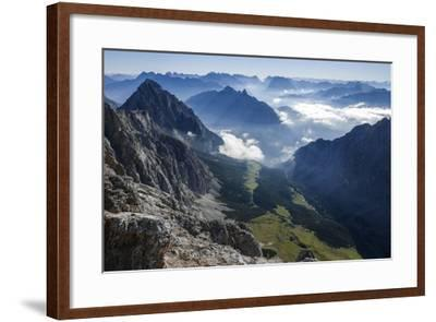View About Puittal on Karwendel in the Early Morning Haze-Rolf Roeckl-Framed Photographic Print
