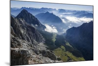 View About Puittal on Karwendel in the Early Morning Haze-Rolf Roeckl-Mounted Photographic Print