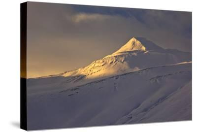 Iceland, Iceland, North-East, Winter, Mountain Landscape on the Öxnadalsheidi, Ring Road-Bernd Rommelt-Stretched Canvas Print